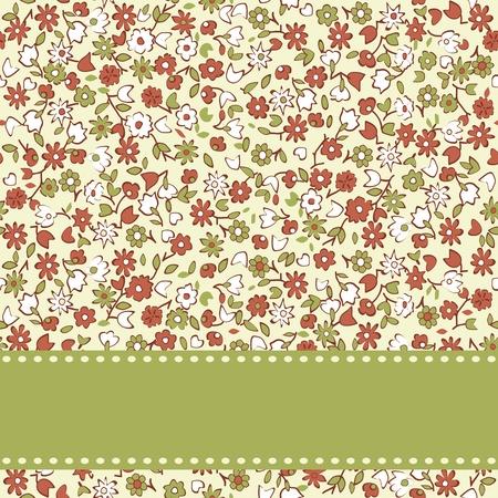 petites fleurs: Vector floral carte