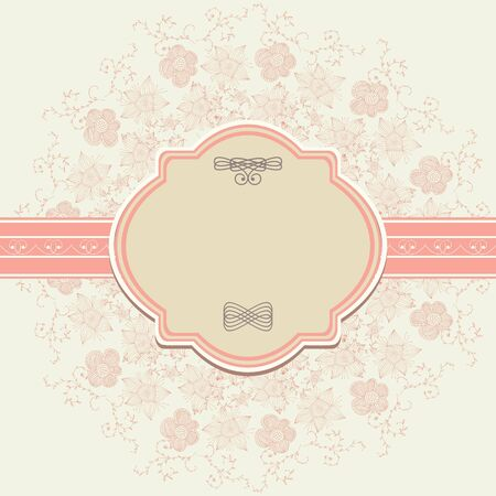 Template frame design for greeting card Stock Vector - 13545923