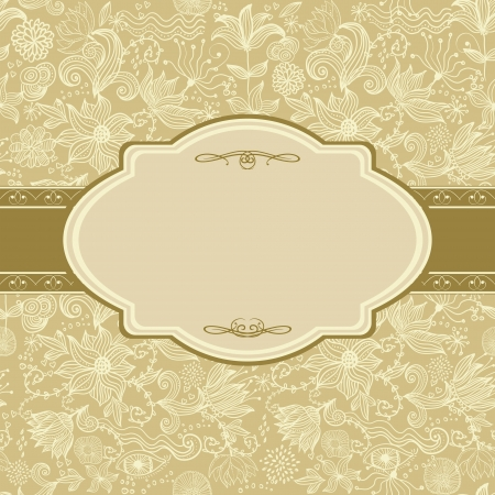 wedding card design: invitation floral card Illustration