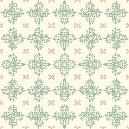 tender elegant seamless Damask wallpaper Stock Vector - 15887169