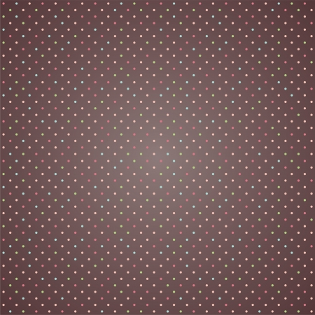 colorful polka dot seamless pattern on brown background  esp10 Vector