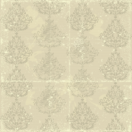 shabby old retro seamless Damask wallpaper  Stock Vector - 16017668