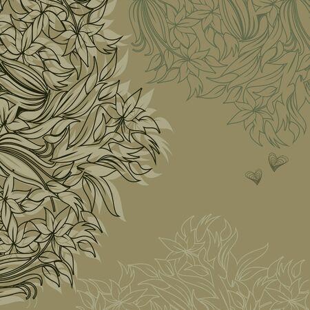 tierno: Plantilla de dise�o de marco para la tarjeta de felicitaci�n con flores tiernas Vectores