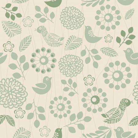 retro seamless floral pattern for wallpaper Vector