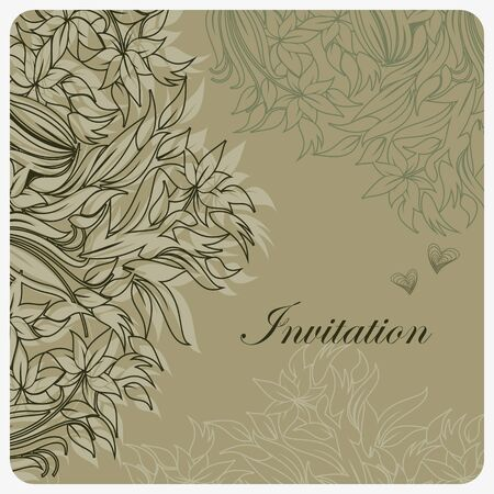Template frame design for greeting card with tender flowers  Vector