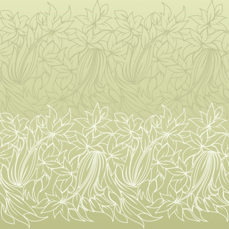 horizontal seamless floral pattern  Vector