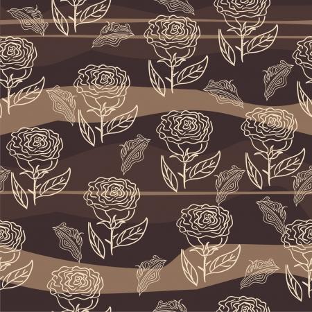 seamless flower background Stock Vector - 17604636