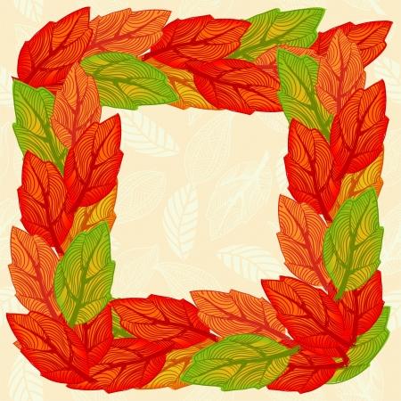 premise: leaves seamless pattern