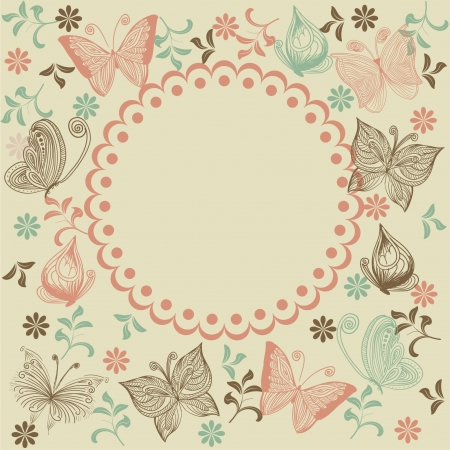 doodle seamless pattern with butterfly  Stock Vector - 17604642