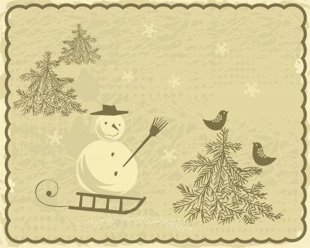 Retro Christmas Card  Stock Vector - 17604645