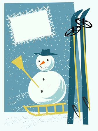 winter card Stock Vector - 17604632
