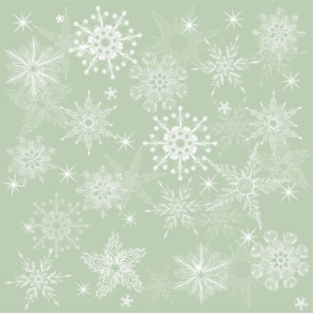 seamless background with snowflakes Stock Vector - 17604672