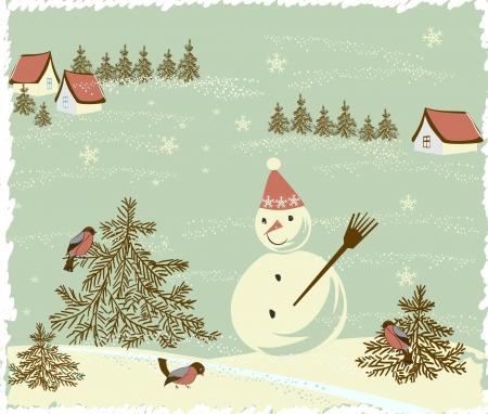 Retro Christmas Card Stock Vector - 17604655