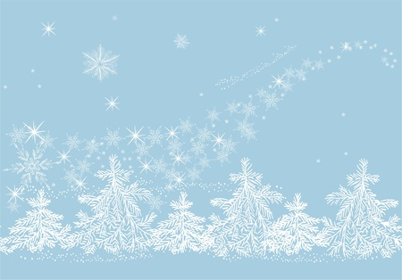 Winter blizzard  Stock Vector - 17604666