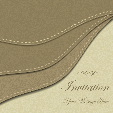 invitation with abstract floral background  eps10 Stock Vector - 18949053