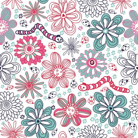 viewfinderchallenge3: children seamless floral pattern