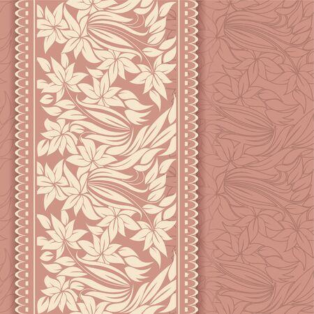 Beautiful floral invitation card Stock Vector - 18949066