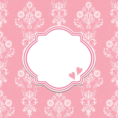Template frame design for greeting card  Vector
