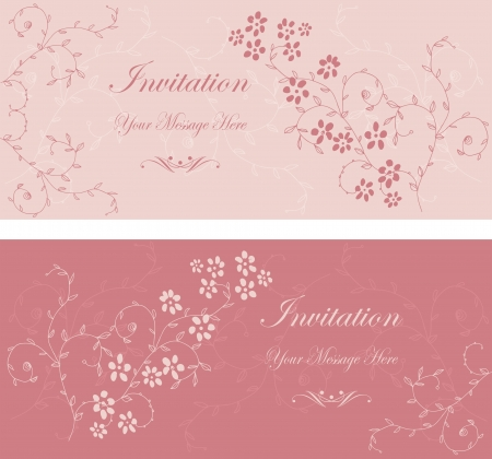 Beautiful floral invitation cards