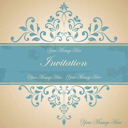 Beautiful floral invitation card  eps10  Stock Vector - 18949063
