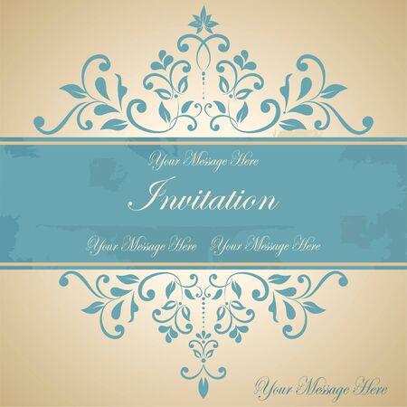 tarjeta de invitacion: Hermosa tarjeta de invitaci�n floral eps10 Vectores