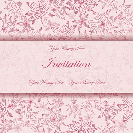 Beautiful floral invitation card  eps10  Stock Vector - 18949137