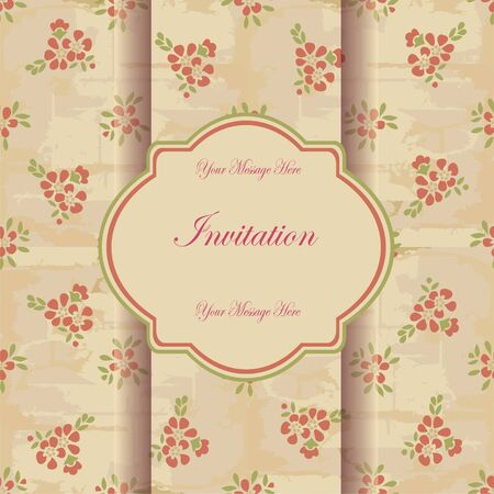 Invitation card with floral pattern eps10 Stock Vector - 18949131