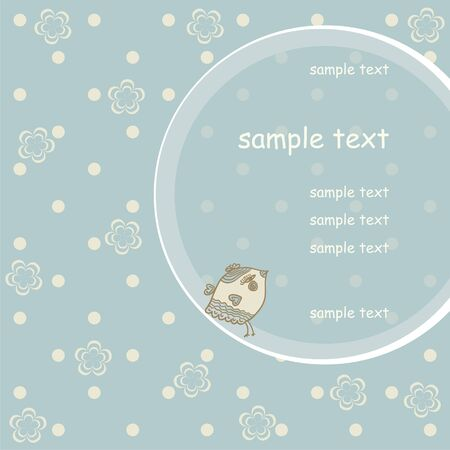 baby romantic: Template frame design for greeting card