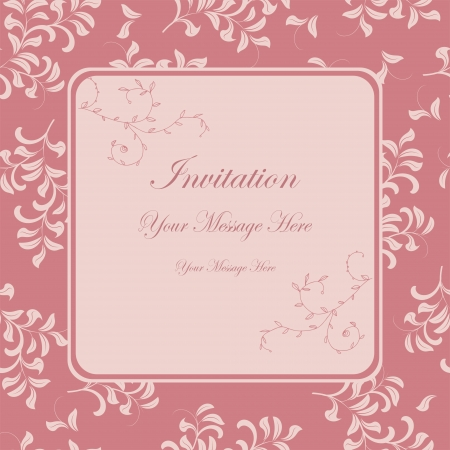 Beautiful floral invitation card Stock Vector - 19200697