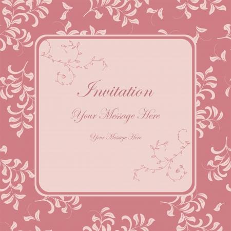 Beautiful floral invitation card Stock Vector - 19200697