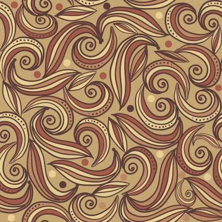 brown seamless abstract pattern Stock Vector - 19155361