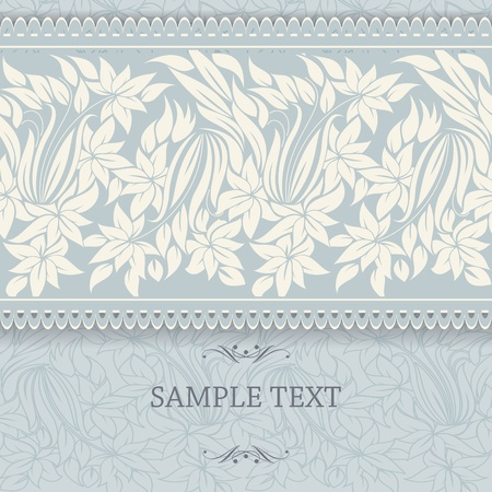 Wedding card or invitation with abstract floral background  eps10 Stock Vector - 19353941