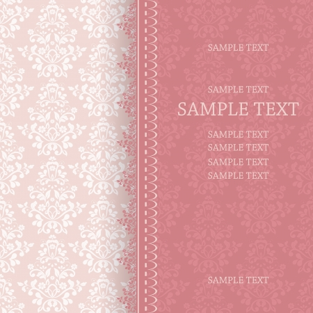 nuptials: Wedding card or invitation with abstract floral background  eps10