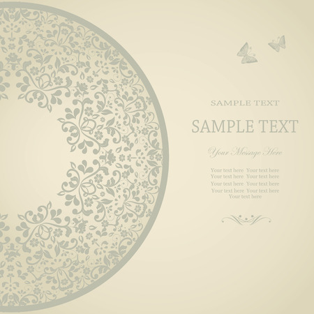 marrying: Elegant invitation card in classical style Illustration