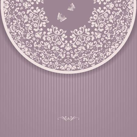 bridal party: Wedding card or invitation with abstract floral background