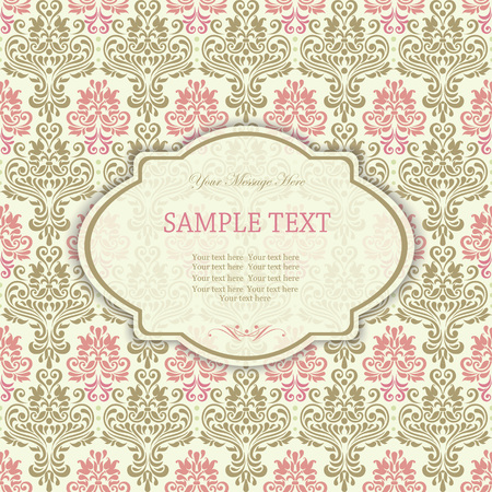 Elegant invitation card in classical style  Vector