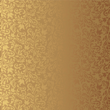 Seamless background of gold color in the style of baroque Vector
