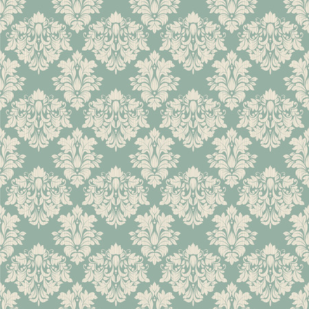 Seamless background of green color in the style of baroque_ Vector