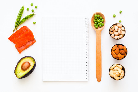 Ingredients for ketogenic diet. The concept of healthy eating. Close-up, copy space Stock Photo
