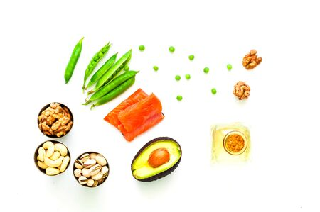 Ingredients for ketogenic diet. The concept of healthy eating. Close-up, copy space 스톡 콘텐츠