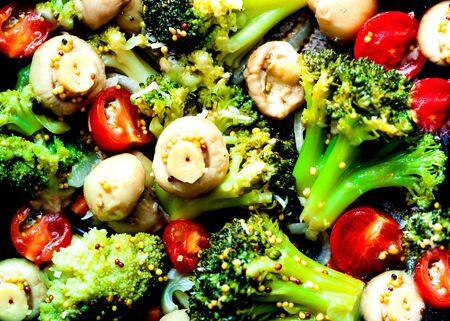 Mushroom-Plant Blends on black background. Healthy eating concept. Budget-friendly menu.Close-up