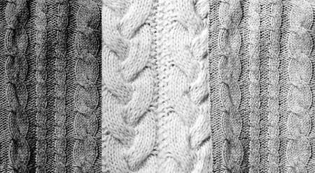 Background from knitted textures in Grayscale. Trendy colors. Creative copy space.