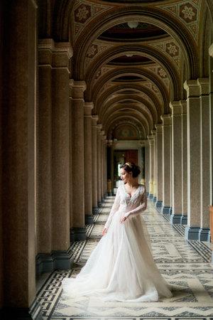 Bride portrait wedding in palace