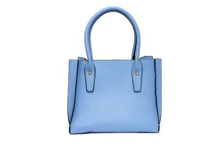 Blue fashion purse handbag on white background isolated