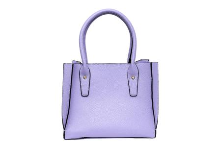 Purple fashion purse handbag on white background isolated