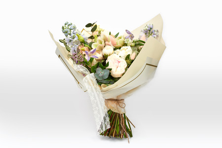 Luxury bouquet isolated in in package Stock Photo
