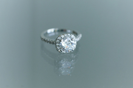 Jewelry engagement ring close up