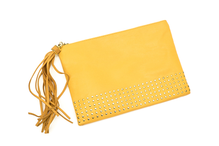 fashion purse clutch on white background isolated
