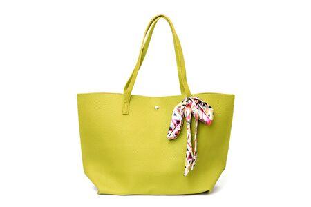Large shopper handbag isolated on white background