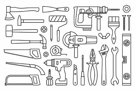 Building tools Icons Ilustração